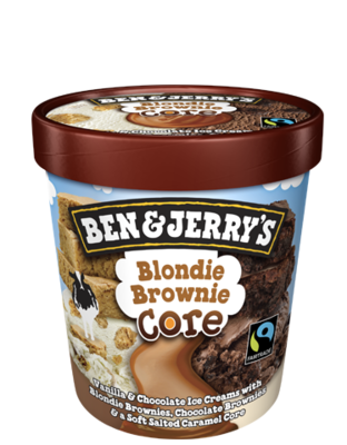 Ben & Jerry's Vanilla Blondie Brownie Core