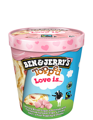 Ben & Jerry's Topped Love Is ...