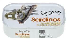 Sardines à l'huile de tournesol In Zonnebloemolie