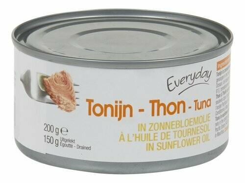 Thon / Tonijn à l'huile de tournesol 200g