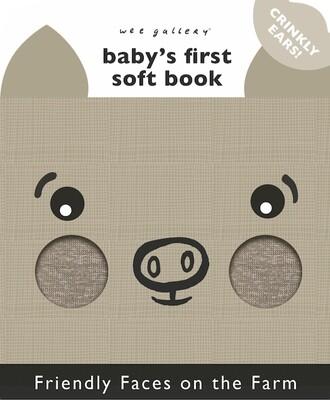 Wee Gallery Sõbralike Nägudega Pehme Raamat – Talu Sõbrad