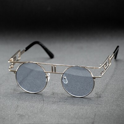 lunettes de soleil ronde monture doré