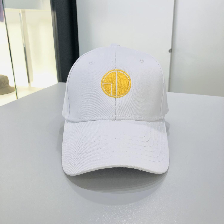 Casquette Blanche / Logo Jaune