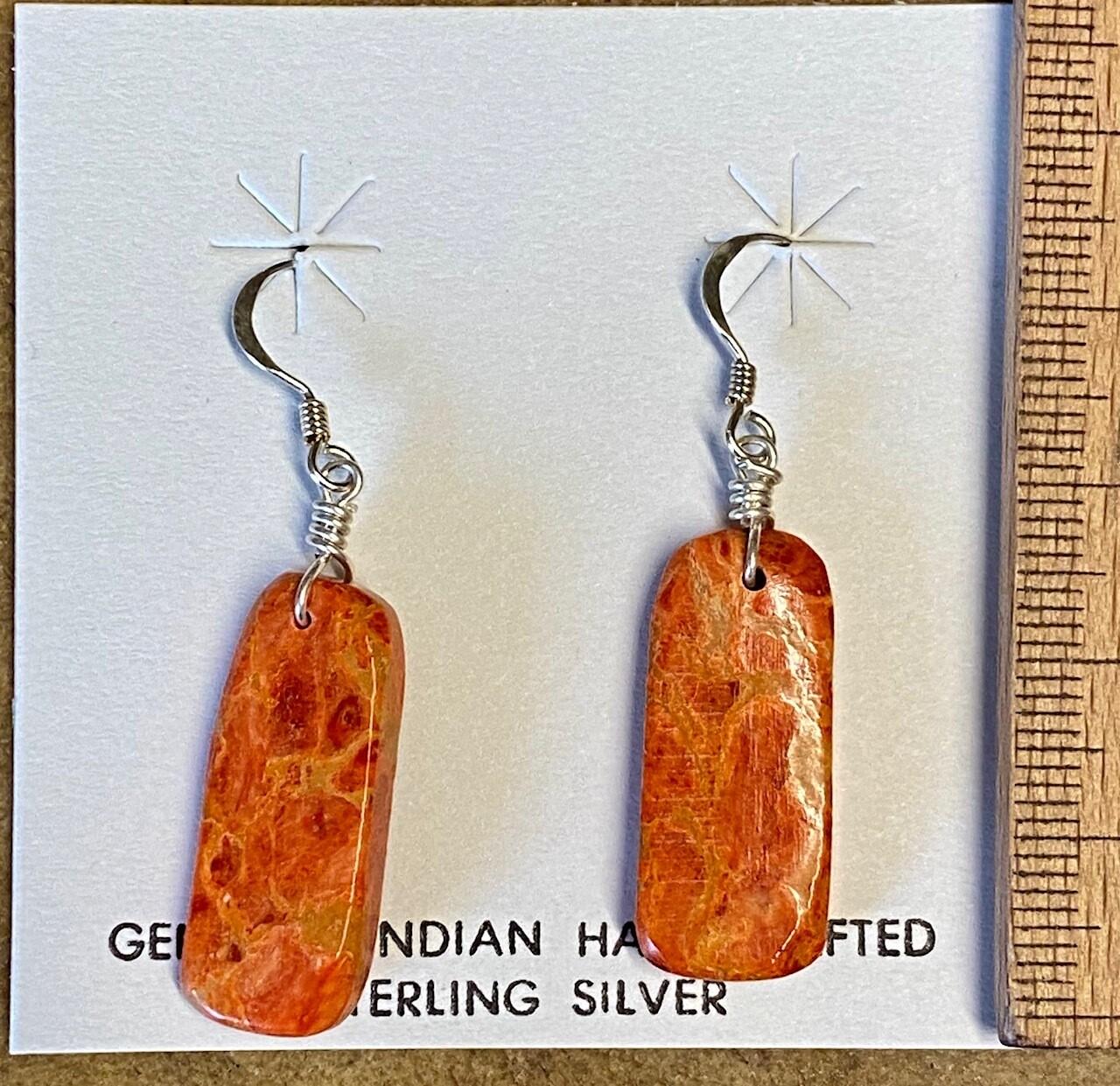 Ohrhänger aus Schaumkoralle -Navajo