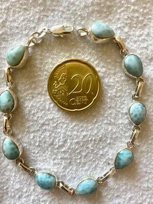 Atlantisstein - Larimar Silber Armband