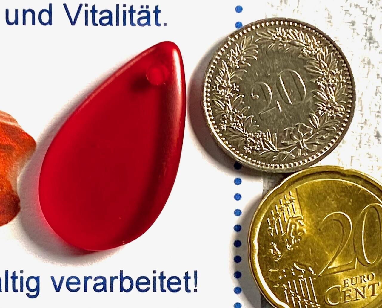 """Andara """"Kristall"""" Anhänger - rot"""