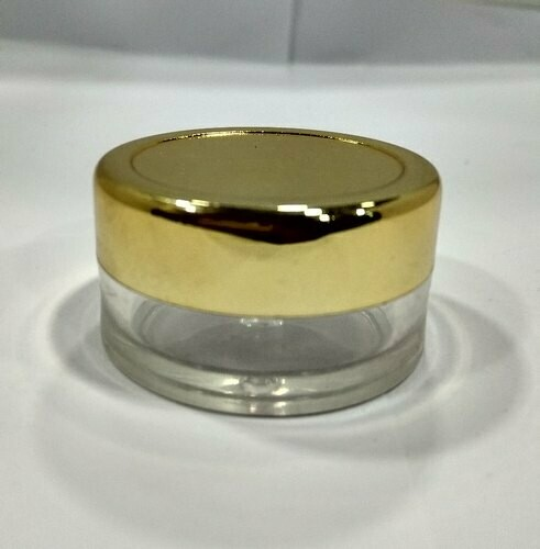 Italian Acrylic Cosmetic Jar with Golden Cap