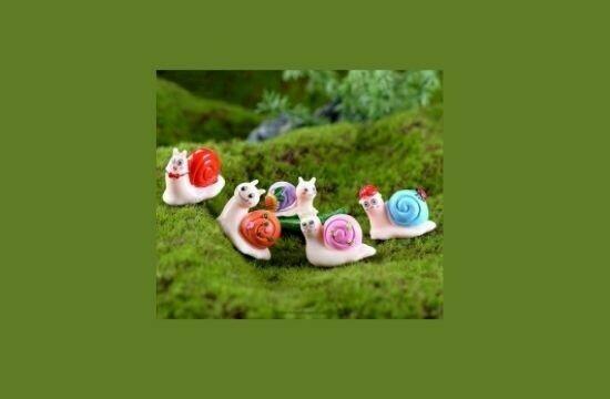 Miniature Snails for Fairy Gardens