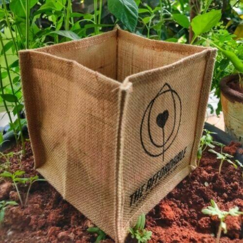 Jute Grow Bags (6inx6inx6in)