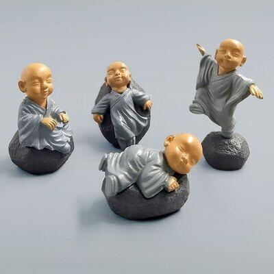 Miniature Chinese Feng Shui Monks (Single Piece)
