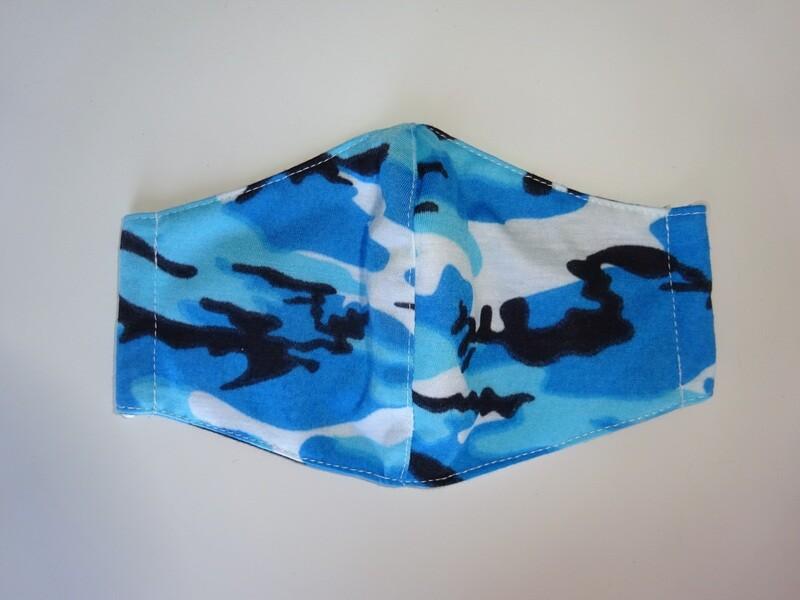 Stoffmaske Tarnmuster Blau
