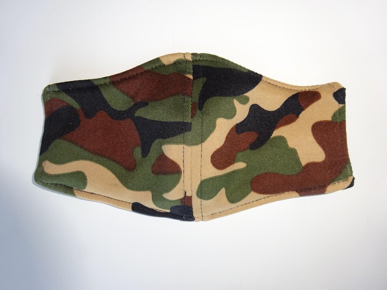 Stoffmaske Tarnmuster Army / Militär Sandfarbe für Kinder