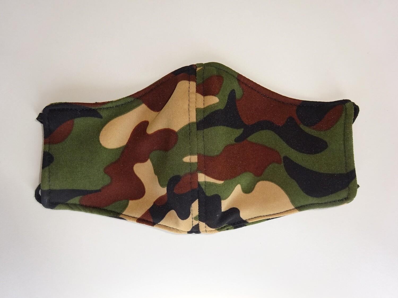 Stoffmaske Tarnmuster Army / Militär Sandfarbe für Damen