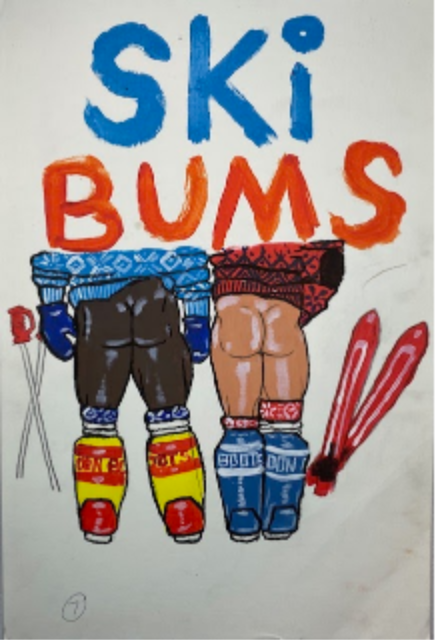 Ski Bums On Paper