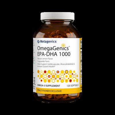 OmegaGenics EPA DHA 1000 Lemon (120 Capsules)