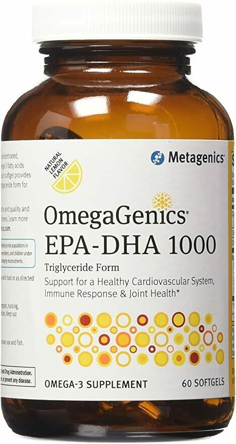 OmegaGenics EPA DHA 1000 Lemon (60 Capsules)