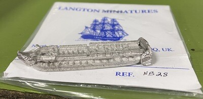NB28 40 gun frigate, two decker, at quarters