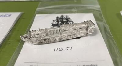 NB51 32 gun frigate at quarters