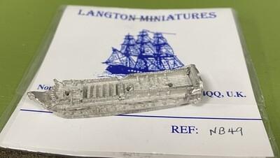 NB49 36 gun frigate at quarters