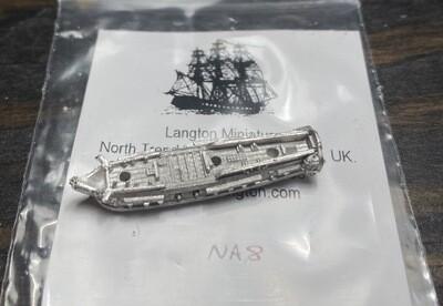 NA8 USS Adams 28 gun at quarters
