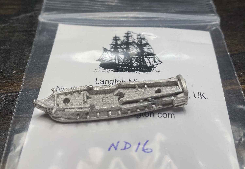 ND16 22 gun frigate at quarters