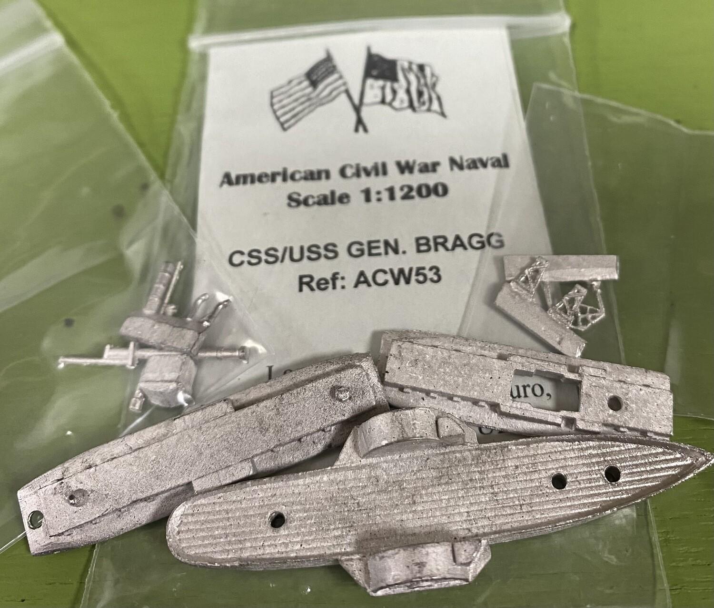 ACW53 CSS/USS General Bragg gunboat