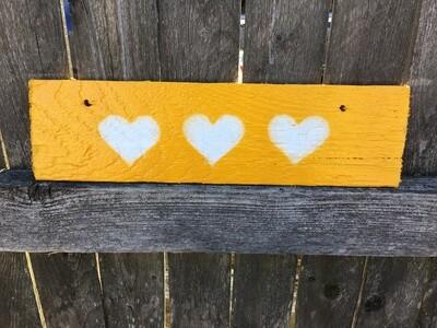 Three Hearts (Yellow)💛💛💛