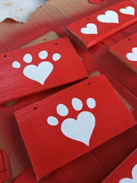 Paw Print Heart (RED) ❤️ 🐾