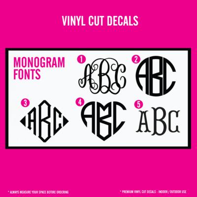 Monogram - Vinyl Decals - Individual