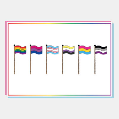 LGBTQ+ Flags A5 Art Print