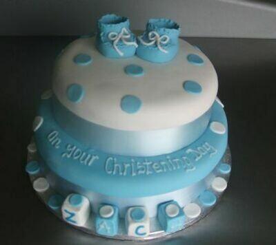 Zach Christening Cake