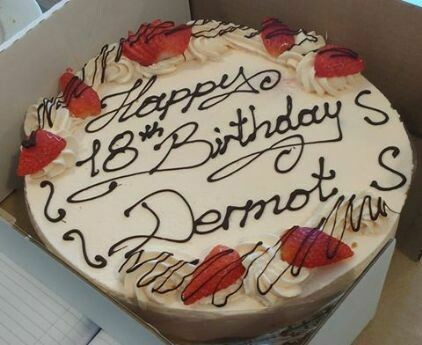 Cheesecake with inscription