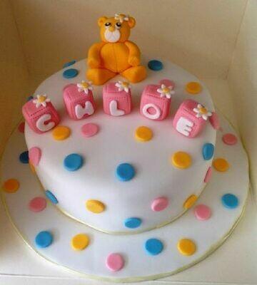 Chloe Christening Cake