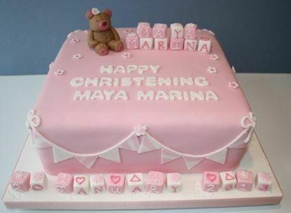 Maya Christening Cake