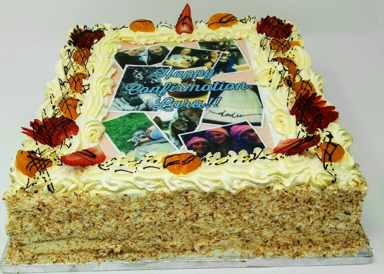 Fresh Cream Sponge Cake with Image