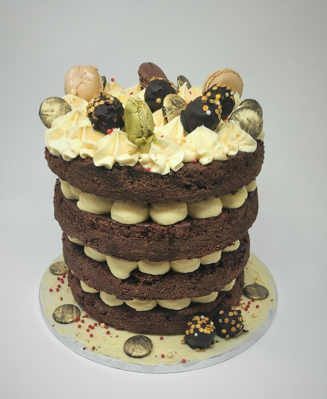 Tall Chocolate and Orange Cake
