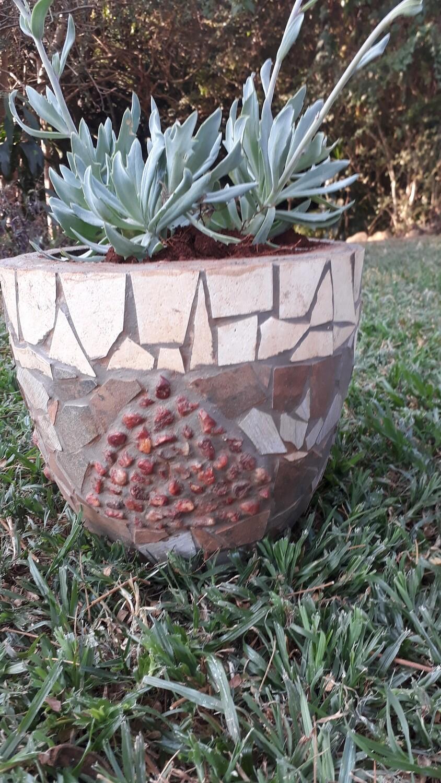 Mosaic plant and ornamental pots