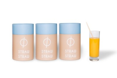 Stro rietjes van Straw by Straw, 20cm, verpakt per 500 stuks