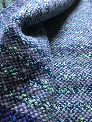 Green and Blue Glitzy Weave