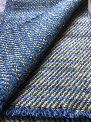 Blue & Yellow Mixed Twill