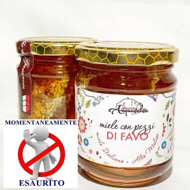 Miele con Pezzi di Favo 250g
