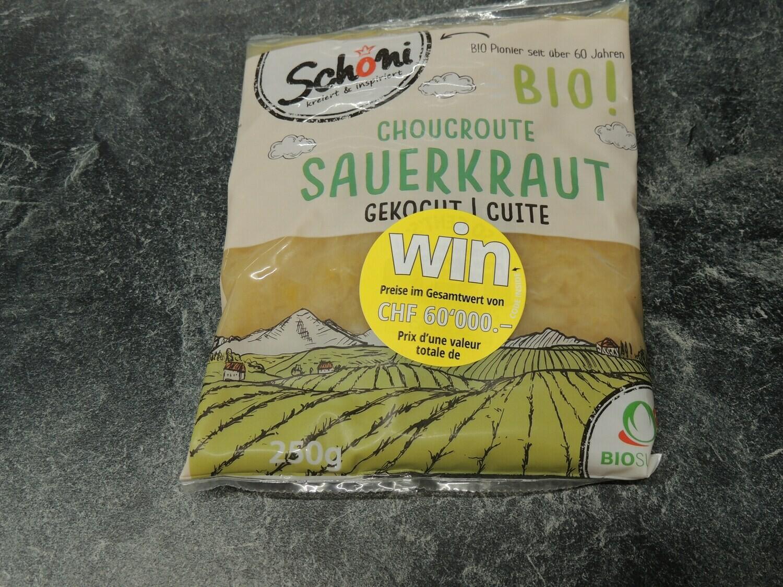 Schöni Bio Sauerkraut, gekocht