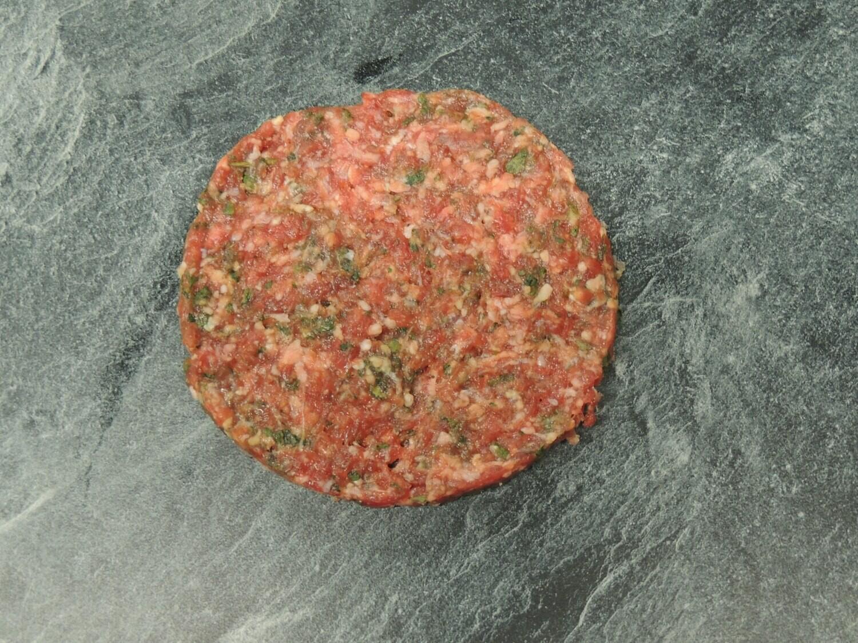 Rindsburger mit Bärlauch