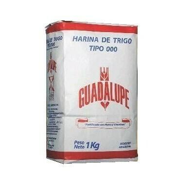 Harina de trigo 000 Guadalupe 1 kg