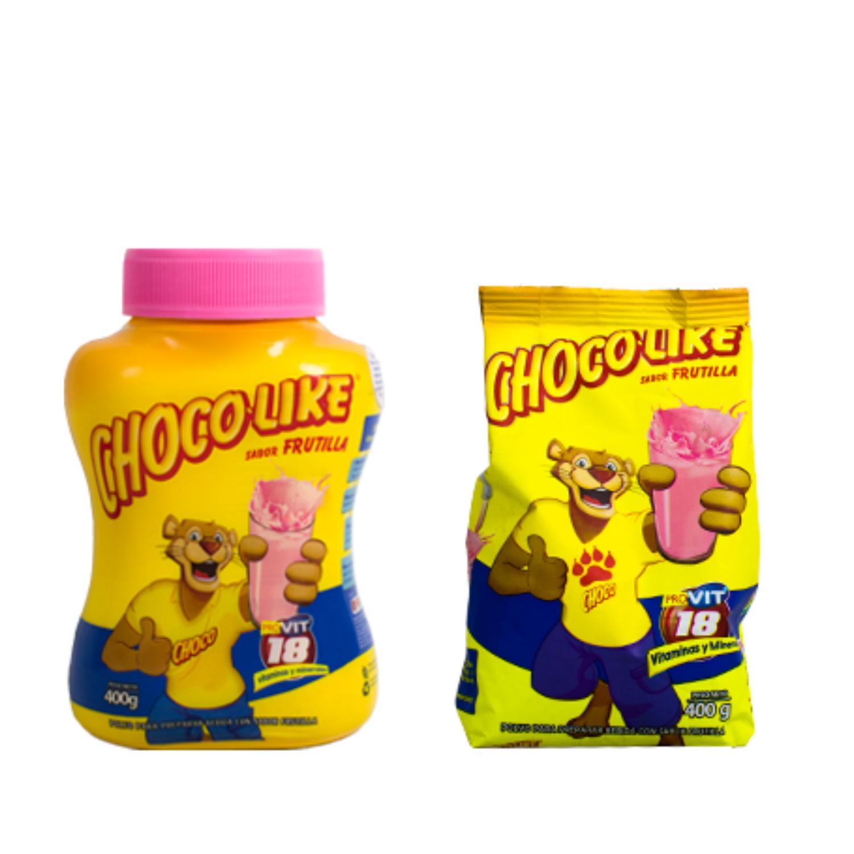 Chocolate azucarado en polvo Chocolike frutilla