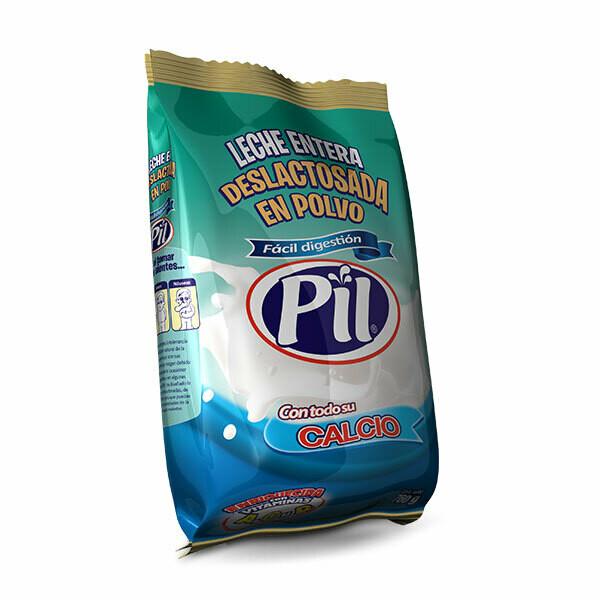 Leche deslactosada en polvo Pil 760 gr