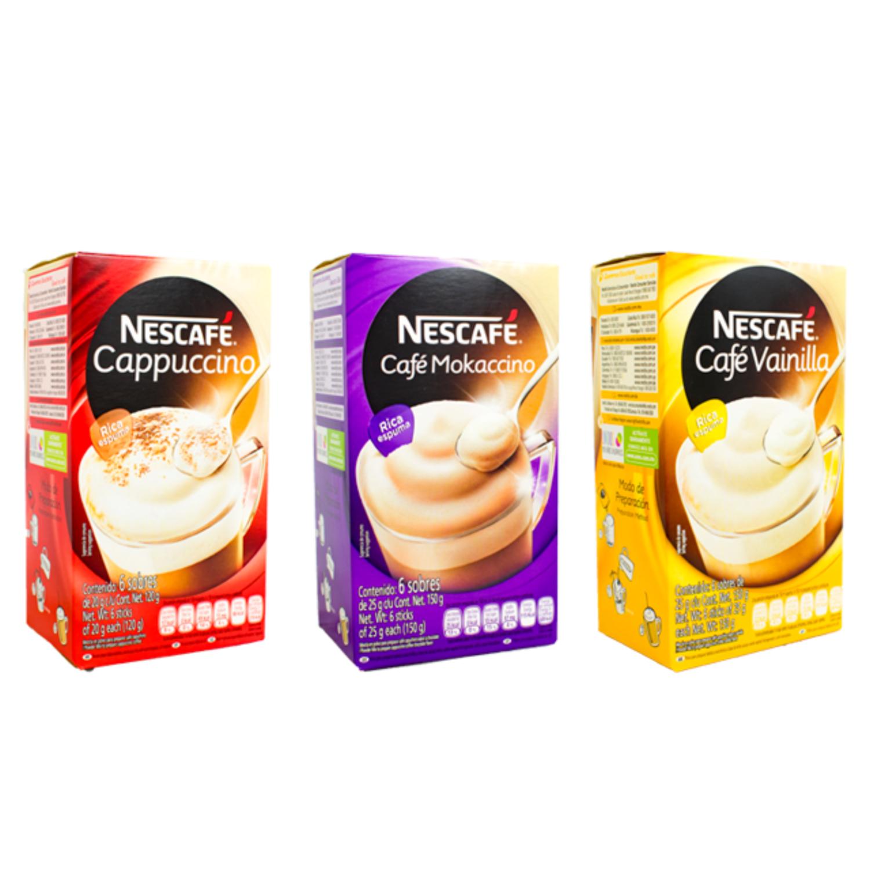 Nescafé cappuccino 1 caja con 6 stiks