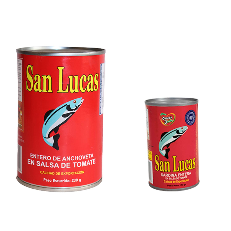 Sardina entera en salsa de tomate San Lucas