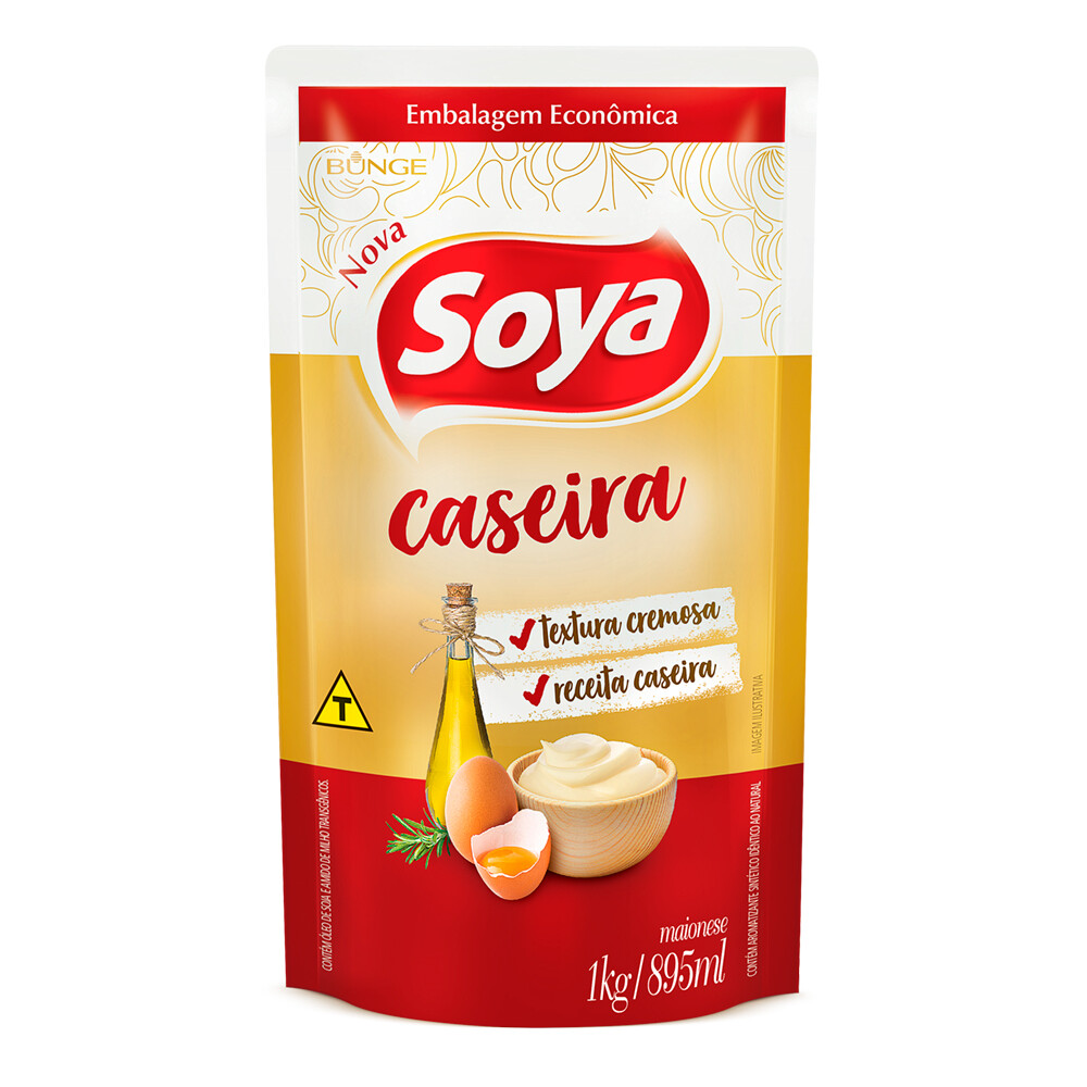 Mayonesa Soya caseira sachet 1 kg