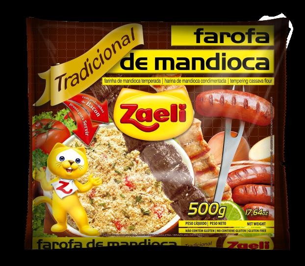 Farofa de mandioca Tradicional Zaeli 500 gr
